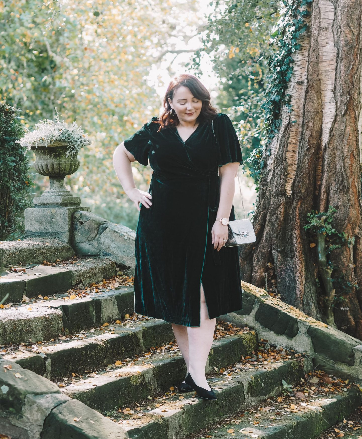 What To Wear For Halloween If You Don't Want To Dress Up joanie midi wrap dress velvet