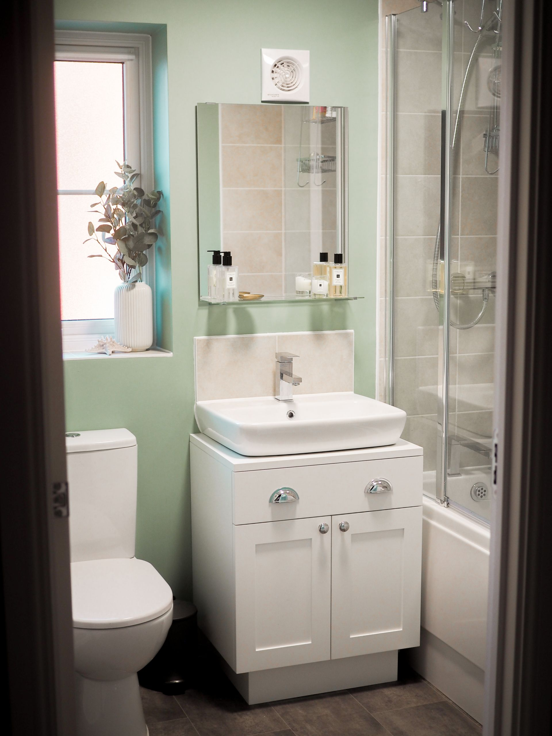 A Sage Green Bathroom New Build Makeover Creating A Calm Space