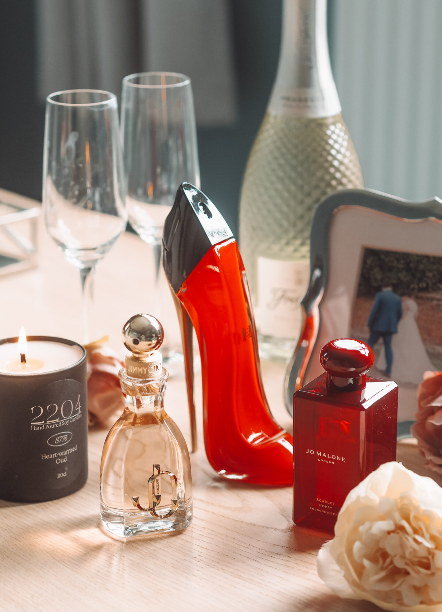 Three Seductive Scents To Treat Yourself (Or A Loved One) To This Valentines Day jimmy choo i want choo carolina herrera very good girl jo malone scarlet poppy